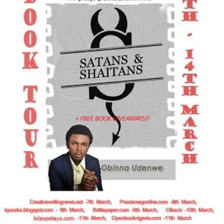 Online Book Tour: Obinna Udenwe's Satans and Shaitans.